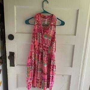 Racker back collared floral print dress